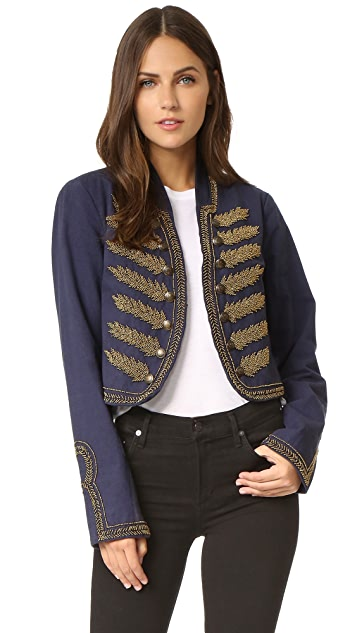 Free People Embellished Band Jacket