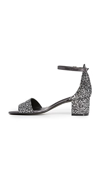 Free People Marigold Glitter Heel Sandals