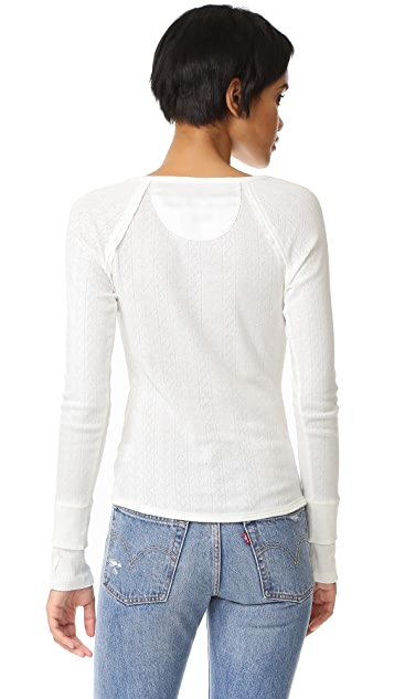 Free People Sugar and Spice Henley