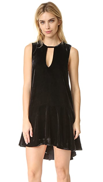 Free People Soft Focus Velvet Dress