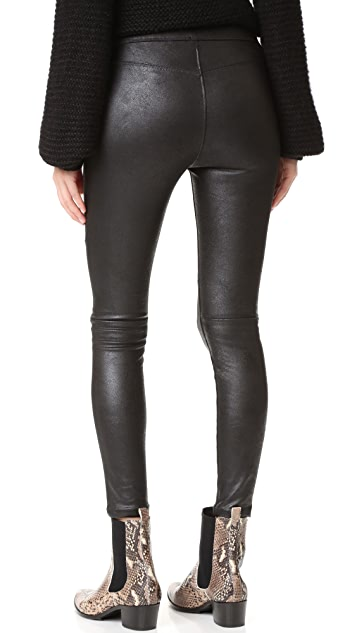 Free People Faux Leather Never Let Go Leggings