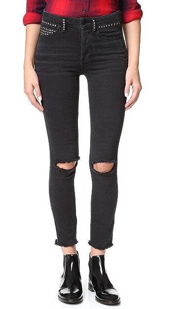 Free People Studded Payton Skinny Jeans