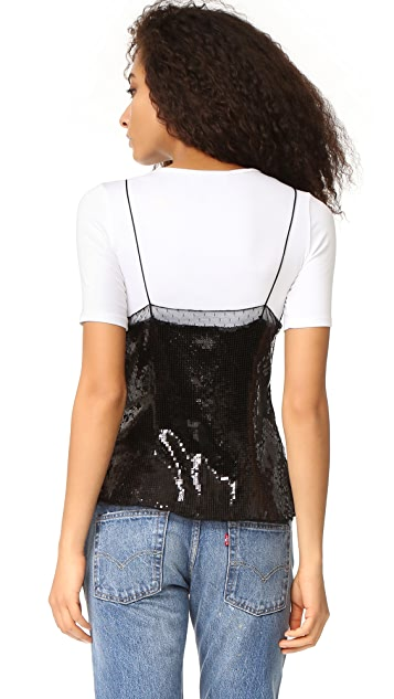 Free People Sassy Sequins Cami