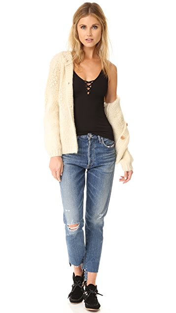 Free People High Platform Crisscross Cami