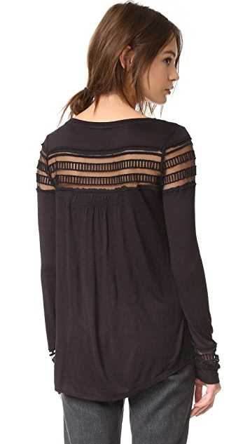 Free People Mesh Insert Roxie Tee