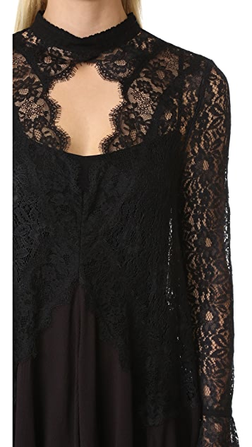 Free People New Tell Tale Lace Tunic Dress