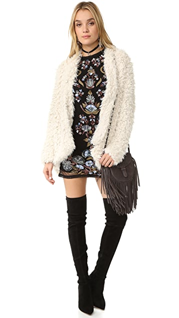 Free People Flared And Fluffy Jacket
