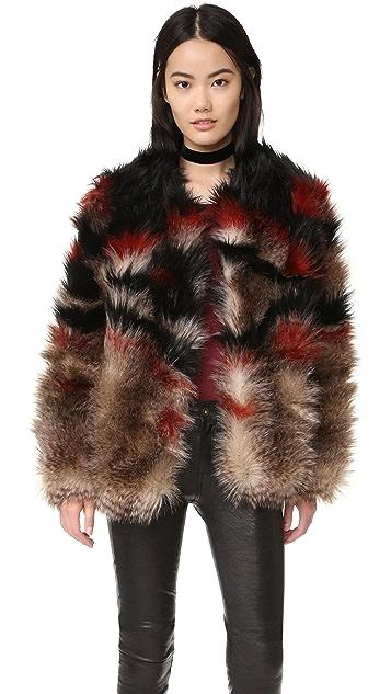 Free People Scarlet Fax Fur Jacket