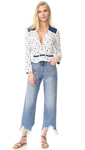 Free People Where We Roam Blouse
