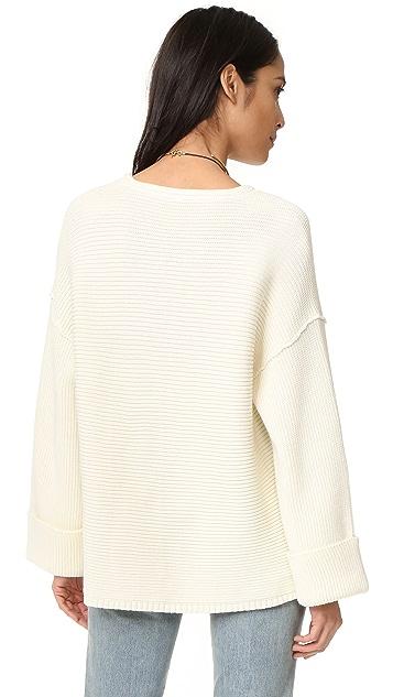 Free People La Brea V Neck Sweater