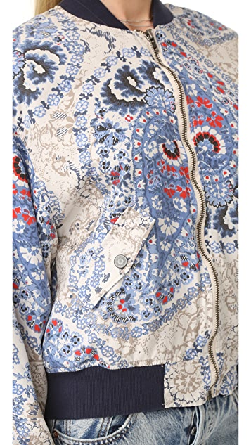Free People Printed Bomber