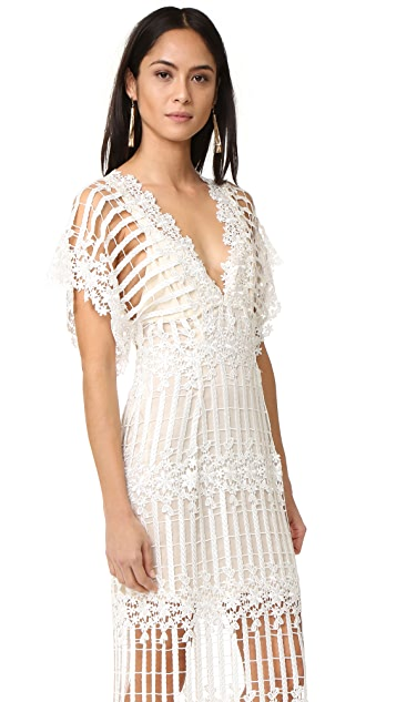 Free People Night Whispers Lace Maxi Dress