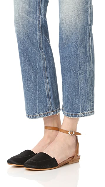 Free People Korine Haircalf Flats