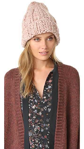 b176518285429 Free People Back to Basic Chunky Rib Beanie
