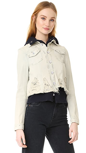 Free People Double Wave Denim Jacket