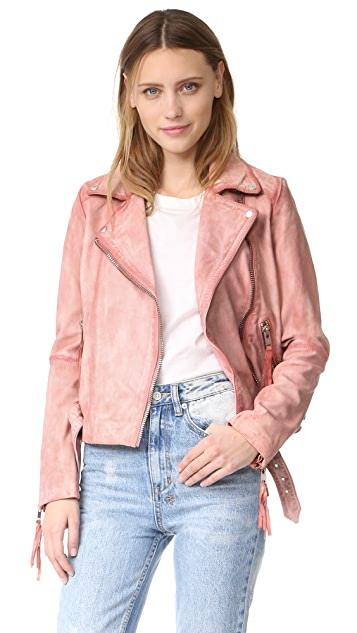 Free People Pink Leather Moto Jacket | SHOPBOP SAVE UP TO 25% Use ...