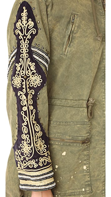 Free People WTF Embellished Parka
