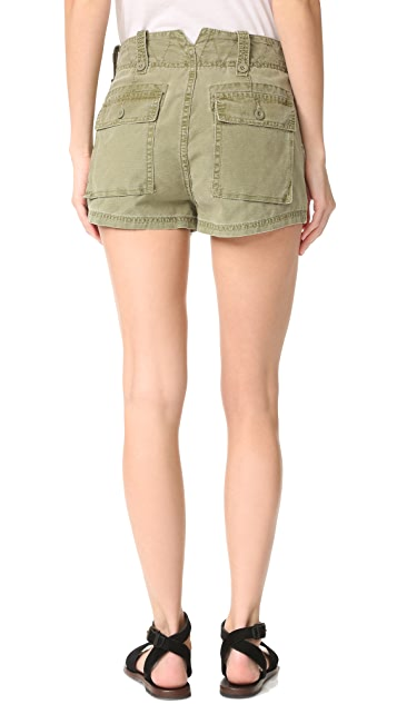 Free People High Waisted Military Shorts