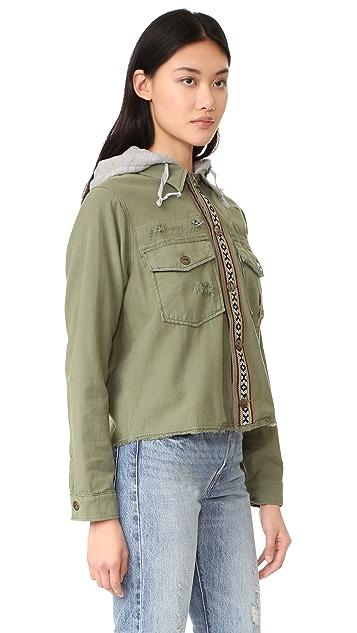 Free People Weekend Wanderer Military Jacket