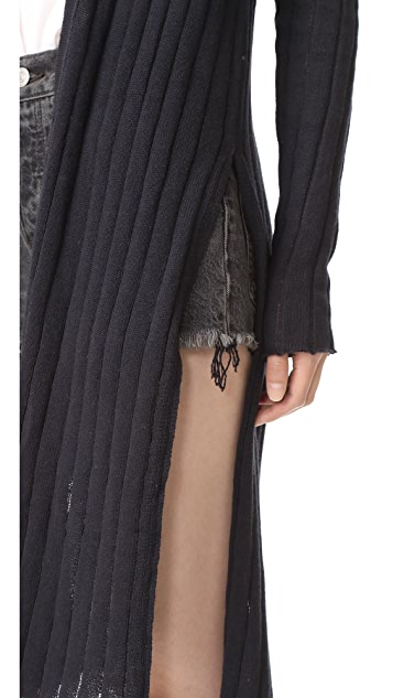 Free People Ribby Rib Cardigan
