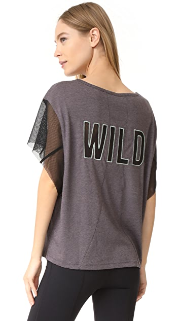 Free People Movement Wild Mesh Graphic Tee