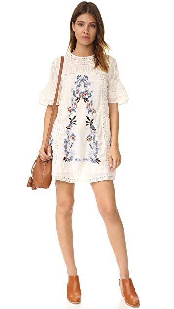 Free People Perfectly Victorian Embroidered Mini Dress