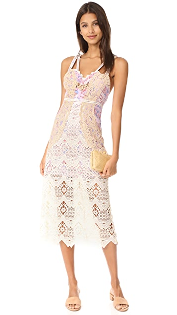 Free People Still Life Midi Dress