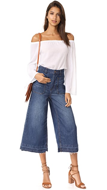 Free People Dawn To Dusk Crop Jeans