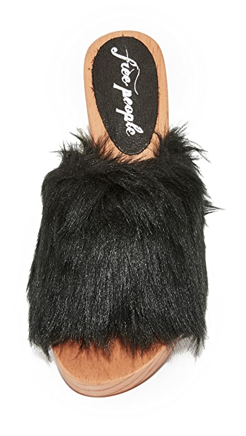 Free People Faux Fur Sonnet Clogs