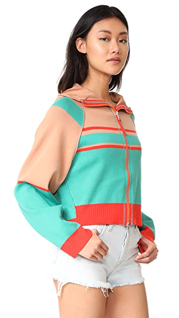 Free People Stripes For Days Zip Up