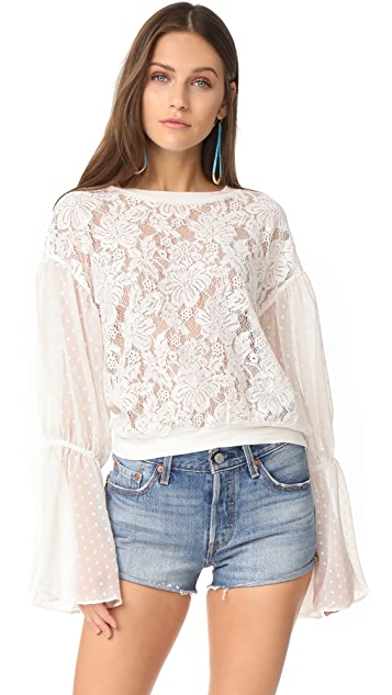 Free People Something Like Love Blouse