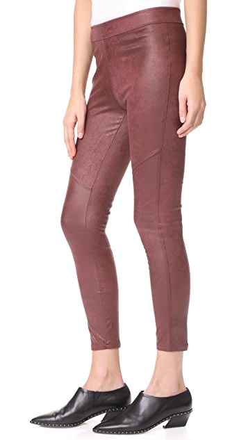 Free People Vegan Suede Leggings
