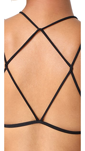 Free People High Neck Strappy Bra