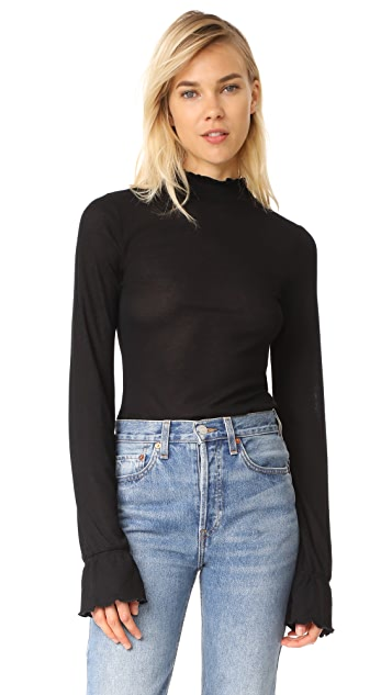 Free People Out of Sight Mock Neck Top