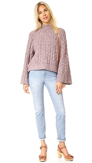Free People Snow Bird Sweater Pullover