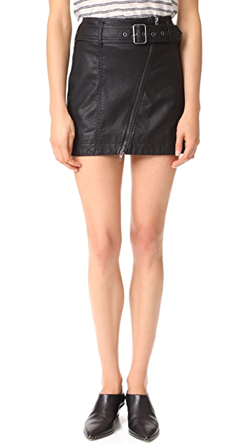Free People Feelin Fresh Vegan Leather Skirt