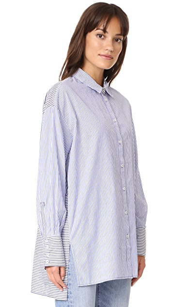 Free People Lakehouse Button Down Shirt