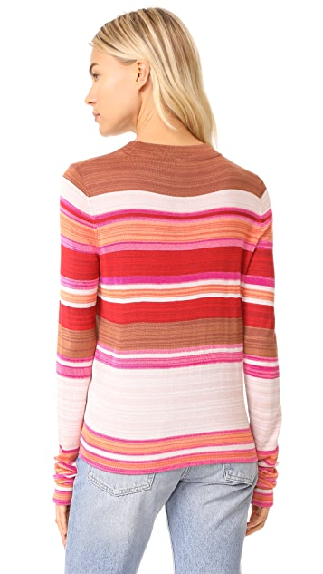 Free People Show Off Your Stripes Crew Sweater