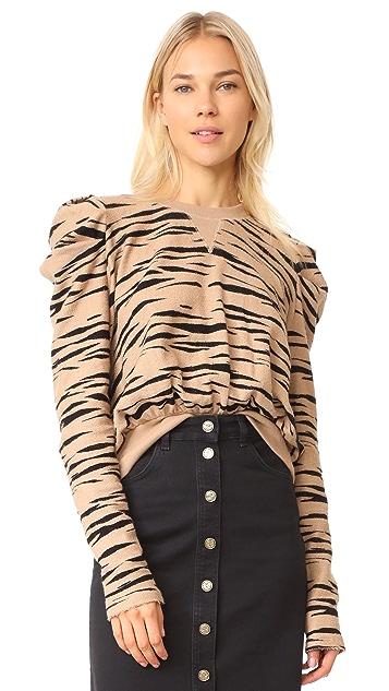 Free People Zaza Zebra Pullover Top