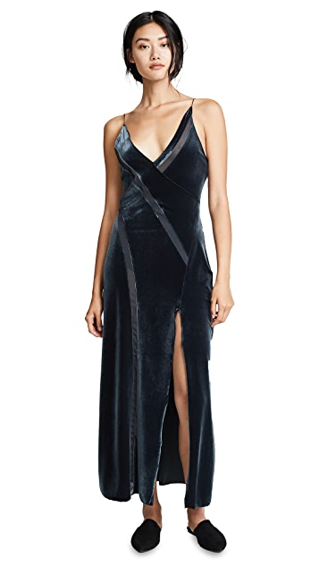 Free People Spliced Velour Maxi Dress