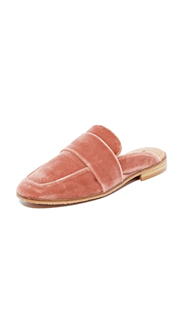 Free People Velvet At Ease Loafers - Rose