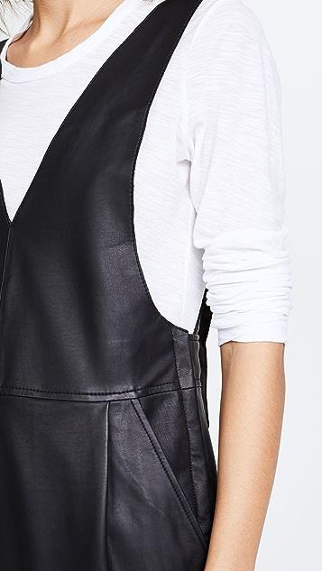 Free People Fiona Vegan Leather Jumpsuit