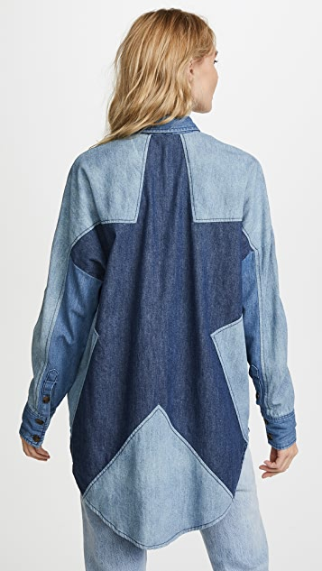 Free People Superstar Button Down Blouse