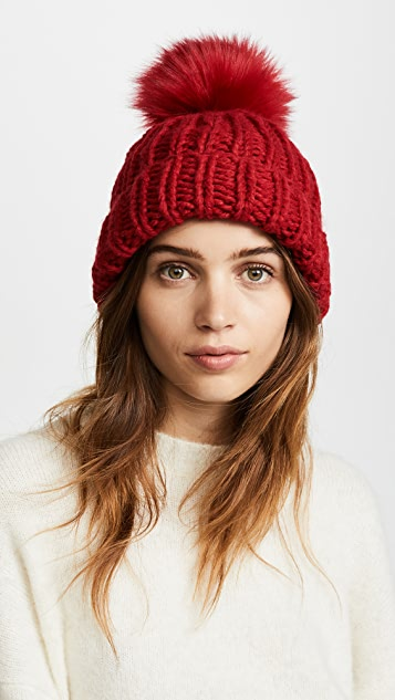8c2b70456a17a Free People Happy Trails Pom Beanie Hat