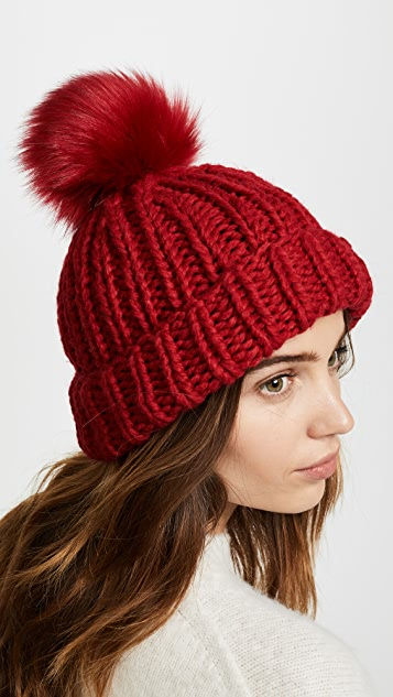 Free People Happy Trails Pom Beanie Hat