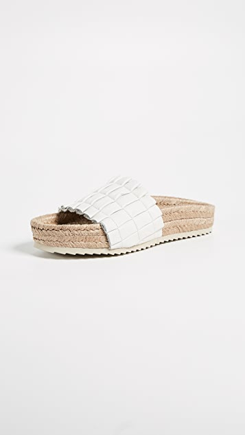 Free People Island Time Espadrille Slide Sandals - White