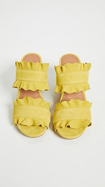 Free People Rosie Sandal Ruffle Heels