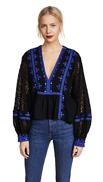 Free People Boogie All Night Blouse