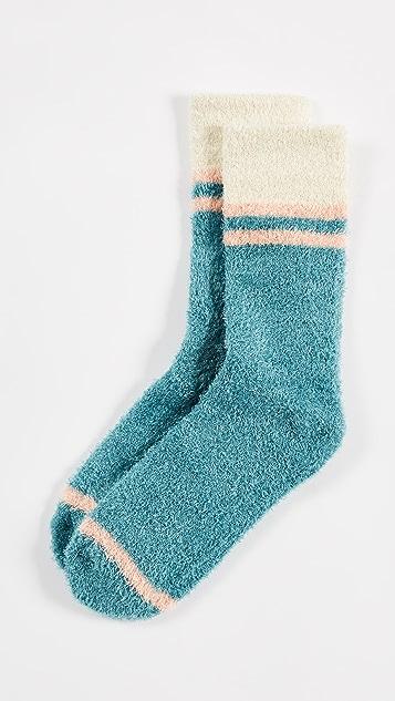 Free People Dream Boat Slipper Socks - Turquoise