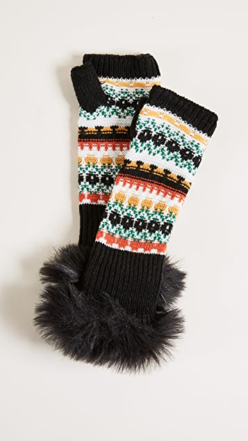 Free People Melt My Heart Arm Warmers - Black